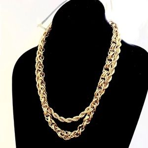 BANANA REPUBLIC Double Drama gold layer necklace